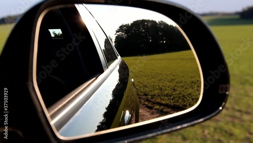 Driving - View in Rearview Mirror
