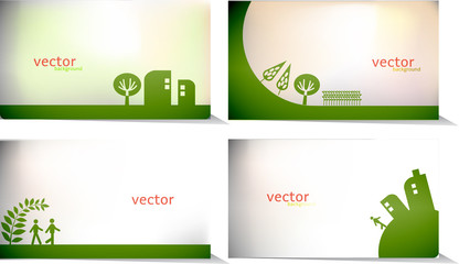 vector - set of nice cards