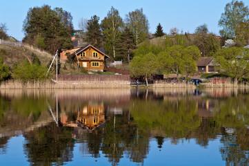 Countryside house near a lake in Belarus