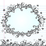 Cloud Frame Sketchy Doodles Design Elements Vector poster