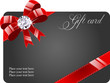Gift card with ribbon