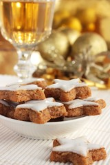 Christmas cookies and a glass of sherry