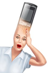 cellulare in testa