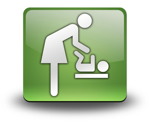 "Green 3D Effect Icon ""Baby Change"""