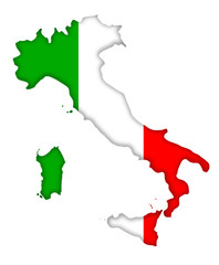 Italien Umriss