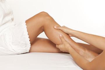 Massage des Unterschenkels