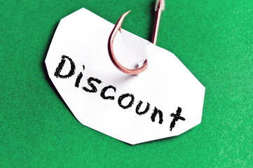 Discount message on paper