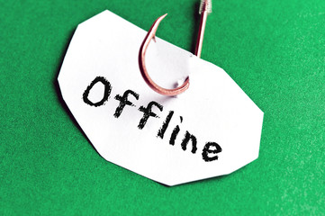 Offline message on paper