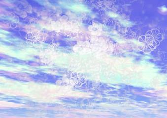 青空に花模様