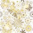 Christmas golden pattern