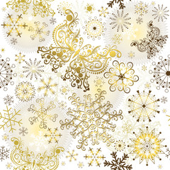 Christmas golden pattern