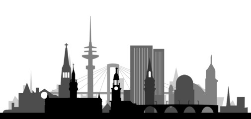 Hamburg Skyline Altstadt