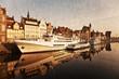 Gdansk of Riverside in retro style