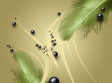 abstrakte grafische Hintergrund mit Feder
