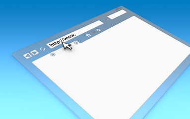 Browser Window.Transparent with blue faded background