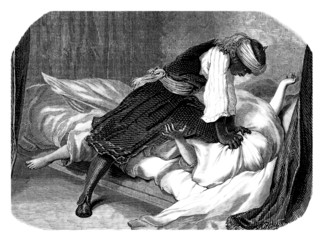 Othello kills Desdemona