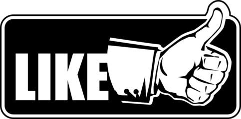 """Like"" symbol , vector illustration"