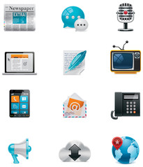 Vector communication and social media icon set. Part 1