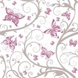 Romantic floral butterfly seamless pattern