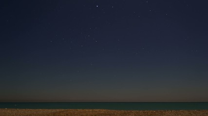 Star-Timelapse over the Sea
