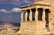 Постер, плакат: Портик с кариатидами Афинский акрополь Греция