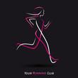 symbole courir, logo sport