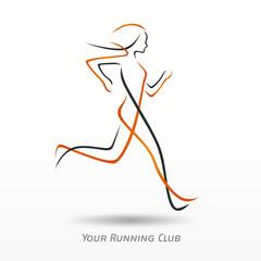 logo course à pied, logo sport