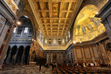 Rome, Italy - basilica of Saint Paul Outside the Walls