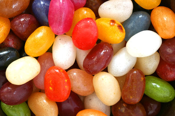 Colourful candies in background
