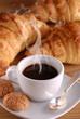 caffè, croissant e amaretti - due