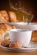 caffè, croissant e amaretti - tre