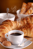 Fototapety caffè, croissant e amaretti - uno