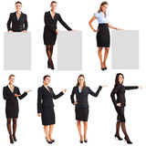 Collection of businesswomen