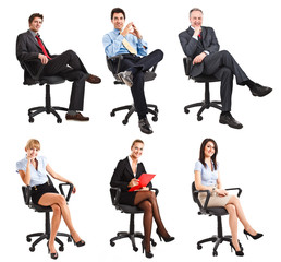 Sitting business people