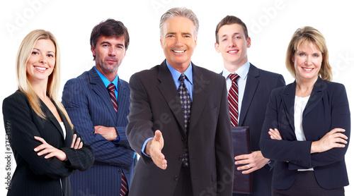 Businessman with handshake. Teamwork.