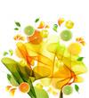 Orange, lemon and lime juice splash