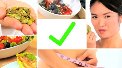 Montage of Modern Healthy Food Options
