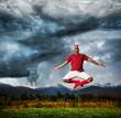 Flying yoga against Hurricane
