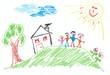 Fototapeten,zuhause,haus,aufbauen,familie