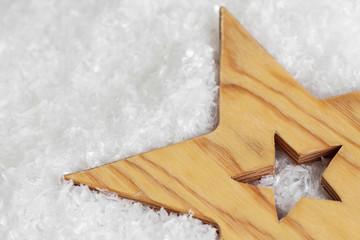 Stern im Schnee