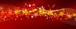 abstrakter Hintergrund, weihnachtlich, Panorama, Banner, rot