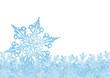 Winter, Hintergrund, Grußkarte, Schnee, Kristall, Schneekristall