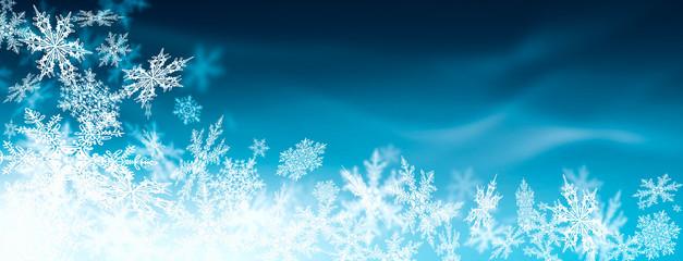 abstrakter, blauer Hintergrund, Winter, Kristalle, Flocke, Frost