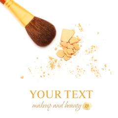 Make-up brush isolated - beauty salon background