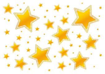 goldfarbene Sterne, gelb, gold, Sterne, Haufen, weihnachtlich