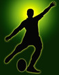 Green Glow Sport Silhouette - Rugby Football Kicker