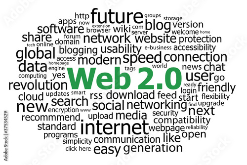 """WEB 2.0"" Tag Cloud (information technology internet http www)"