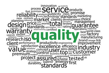 """QUALITY"" Tag Cloud (guarantee professional service reliability)"