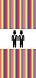 gay marriage in a rainbow background