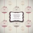 vintage design with birdcages - eps10